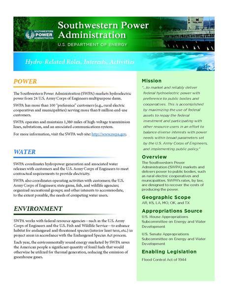 File:Federal Hydropower - Southwestern Power Administration.pdf