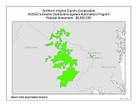 Coverage Map: Northern Virginia Electric Cooperative Smart Grid Project