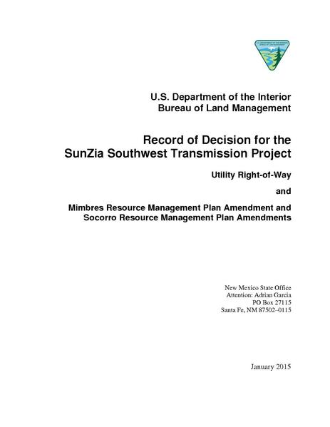 File:SunZia Record of Decision.pdf