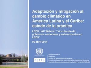 Adaptación y mitigación al cambio climático en America Latina y el Caribe estado de la práctica B Infante.pdf