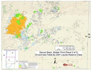 Denver Basin, Middle Part By 2001 Liquids Reserve Class