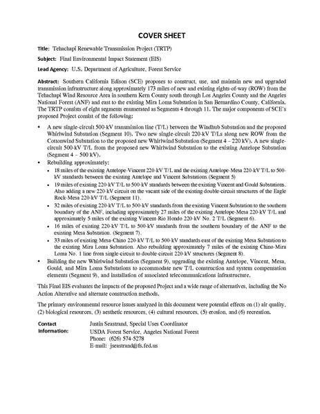 File:Tehachapi Renewable FEIS Volume I 1 Introduction.pdf