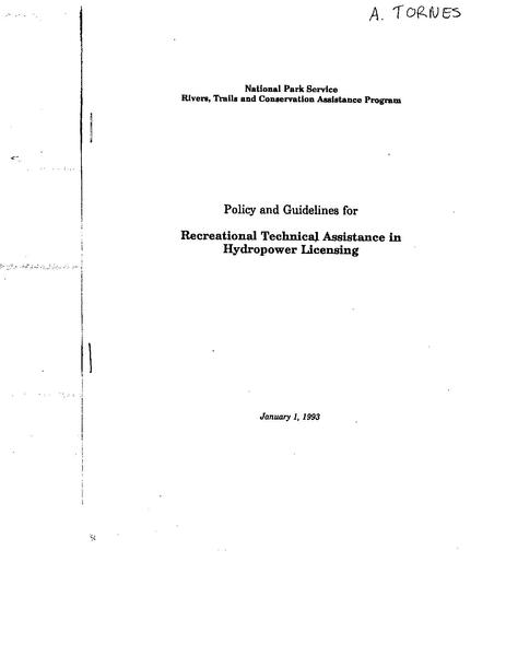 File:NPS HYDRO POLICY GUIDELINES fed reg 1993.pdf