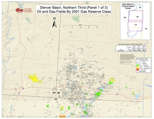 Denver Basin, Northern Part By 2001 Gas Reserve Class