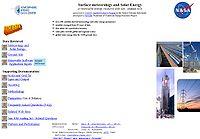 NASA-Surface Meteorology and Solar Energy Screenshot