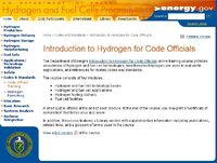 Introduction to Hydrogen for Code Officials Screenshot