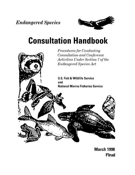 File:ESA Section7 Consultation Handbook 1998.pdf