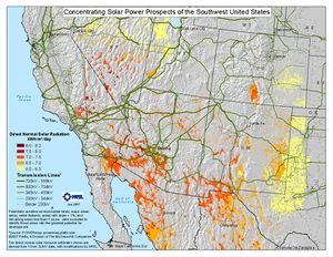 Concentrating Solar Power Prospects of the SW U.S. (JPG)