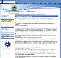 USDOT-Transportation and Climate Change Clearinghouse Screenshot