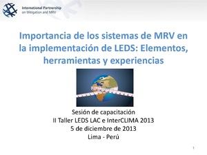 Verena Bruer - Importancia de los sistemas de MRV en la implementación de LEDS.pdf