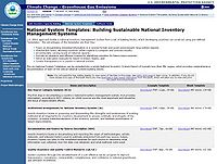 National System Templates: Building Sustainable National Inventory Management Systems Screenshot