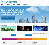 Multicriteria Analysis for Climate (MCA4climate) Screenshot