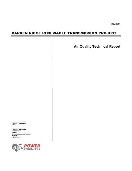 File:Barren Ridge FEIS-Volume III Air Quality Tech Rpt.pdf