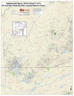 Appalachian Basin, Kentucky and Tennessee By 2001 Liquids Reserve Class