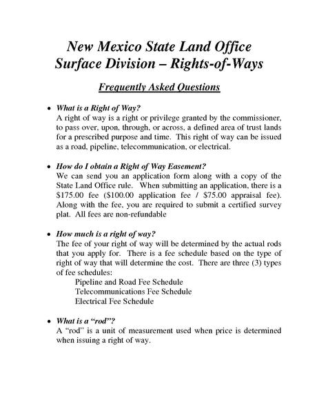 File:NMSLO Surface Division ROW FAQs.pdf