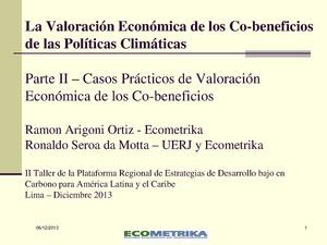 La Valoración Económica de los Co-be de las Políticas Climáticas - Ronaldo da Mota parte 2.pdf