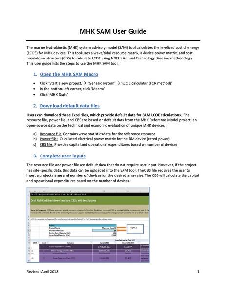 File:MHK SAM User Guide.pdf
