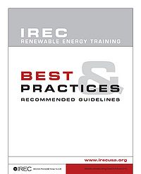 IREC Renewable Energy Training Best Practices and Recommended Guidelines Screenshot