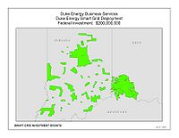 Coverage Map: Duke Energy Business Services LLC Smart Grid Project