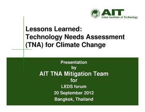 File:Lessons Learned - Technology Needs Assessment for Climate Change - AIT.pdf