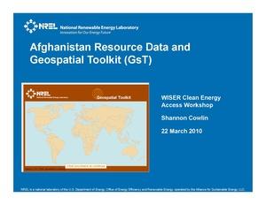 Afghanistan GsT Presentation