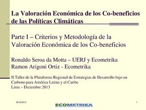 La Valoración Económica de los Co-ben de las Políticas Climáticas - Ronaldo Seroa da Mota.pdf