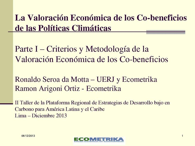 File:La Valoración Económica de los Co-ben de las Políticas Climáticas - Ronaldo Seroa da Mota.pdf