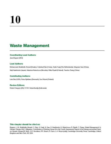 File:IPCC WG3 - report - Waste Management, contribution of WG3 to the 4th IPCC Report.pdf