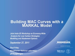 Building MAC Curves with a MARKAL Model