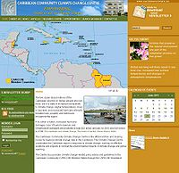 Caribbean Community Climate Change Centre Screenshot