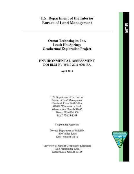 File:EA DOI-BLM-NV-W010-2011-0001-EA Leach.pdf