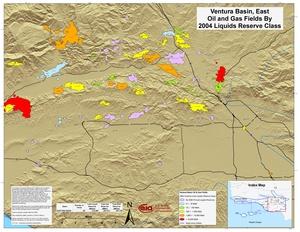 Ventura Basin, East Part By 2001 Liquids Reserve Class
