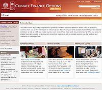 Climate Finance Options Screenshot