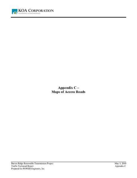 File:Barren Ridge FEIS-Volume III Traffic appendix C Maps of Access Roads.pdf