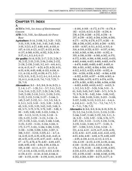 File:Barren Ridge FEIS-Volume I Chapter 11 Index FINAL-R.pdf