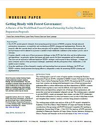 A Review of the World Bank Forest Carbon Partnership Facility Readiness Preparation Proposals Screenshot