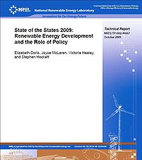NREL-State of the States 2009: Renewable Energy Development and the Role of Policy Screenshot