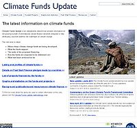 Climate Funds Update Screenshot