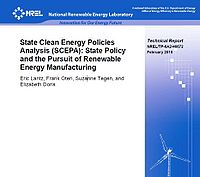 State Clean Energy Policies Analysis (SCEPA): State Policy and the Pursuit of Renewable Energy Manufacturing Screenshot