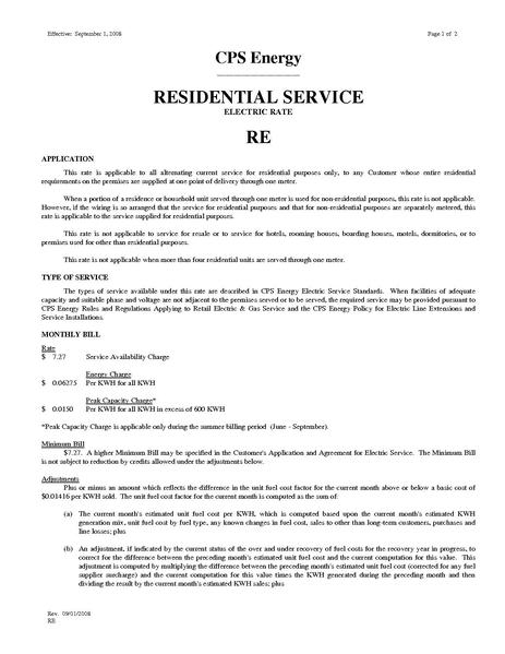 File:Utility Rate San Antonio (CPS) res residentialelectricrate.pdf