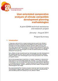 User-orientated comparative analysis of climate compatible development planning methodologies and tools Screenshot