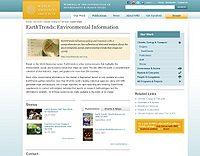WRI-Earth Trends Data Screenshot