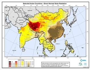 Selected Asian Countries - Annual Direct Normal Solar Radiation (PDF)