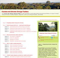 Forests and Climate Change Toolbox Screenshot