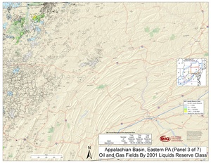 Appalachian Basin, Eastern Pennsylvania By 2001 Liquids Reserve Class