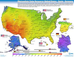 PV Solar Resource: U.S., Germany and Spain