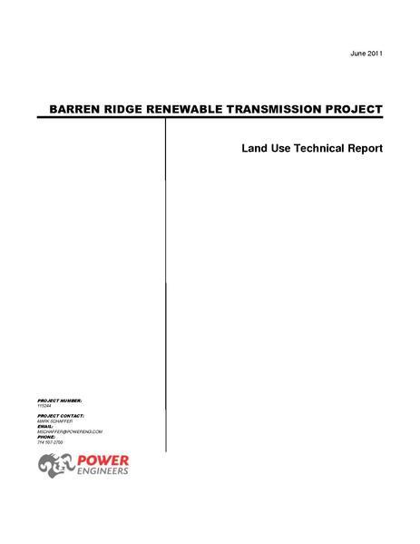 File:Barren Ridge FEIS-Volume III Land Use Tech Rpt.pdf