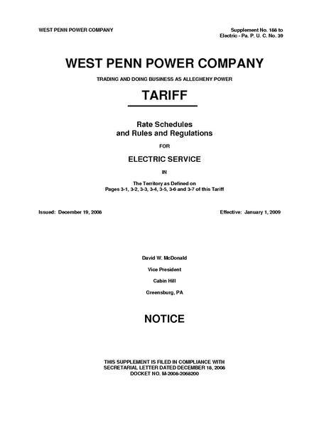 File:Utility Rate Pennsylvania AlleghenyPower PARetailTariff.pdf
