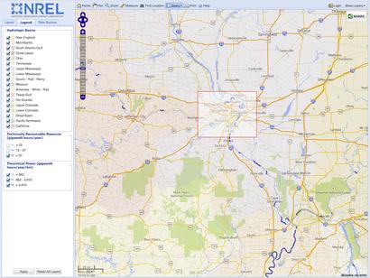 MHK Atlas advanced query spatial filter