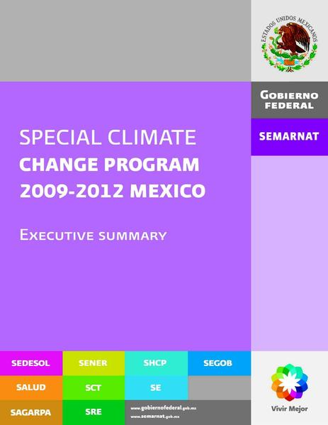 File:(PECC) Special Program on Climate Change SUMMARY (english).pdf